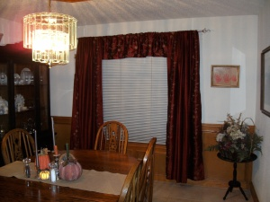 The new window treatments in the dining room
